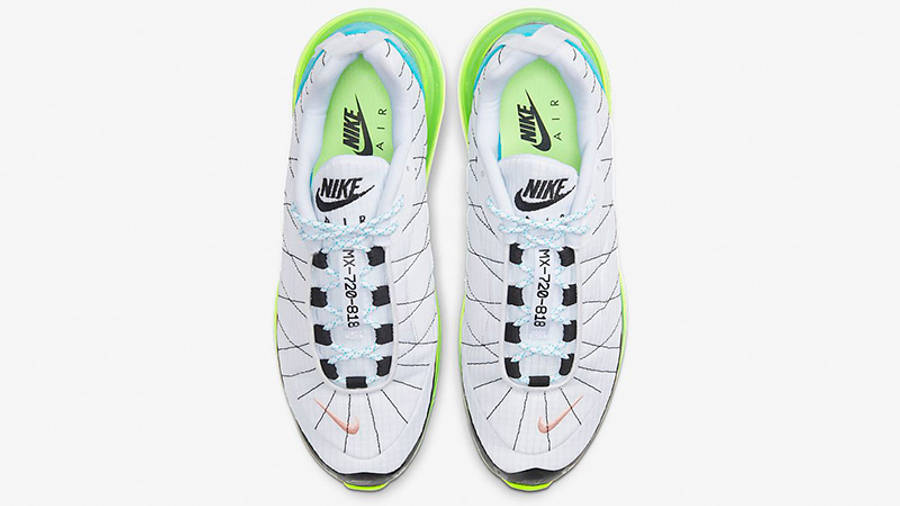 Nike MX-720-818 White Ghost Green CT1266-101 middle