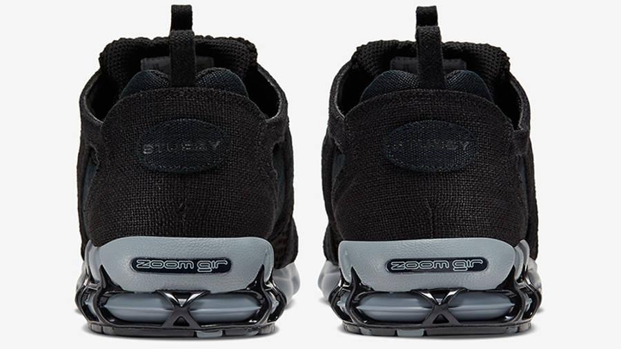 Stussy x Nike Air Zoom Spiridon Cage 2 Black Grey CD0461-007 back
