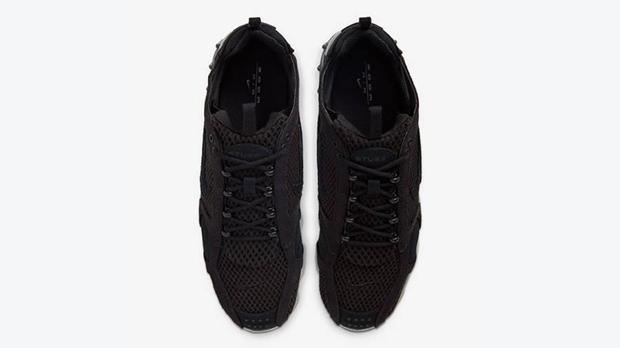 Stussy x Nike Air Zoom Spiridon Cage 2 Black Grey CD0461-007 middle