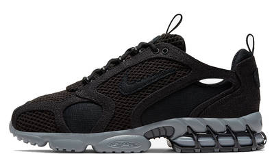 Stussy x Nike Air Zoom Spiridon Cage 2 Black Grey CD0461-007