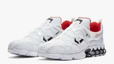 Stussy x Nike Air Zoom Spiridon KK White Front