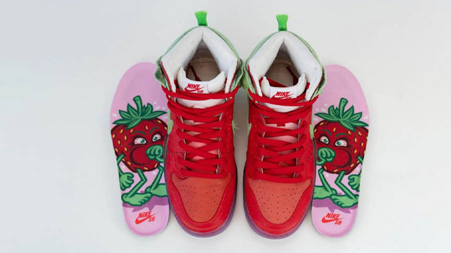 Todd Bratrud x Nike SB Dunk High Strawberry Cough Red Middle