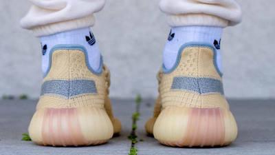 Yeezy Boost 350 V2 Linen On Foot Back
