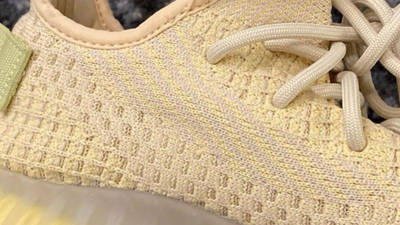 Yeezy Boost 350 V2 Sulfur side closeup