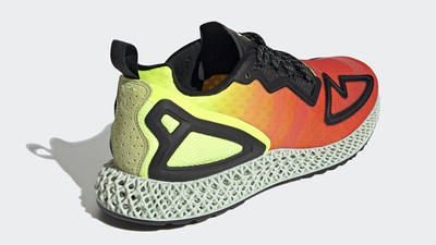 adidas ZX 2K 4D Solar Yellow Red Back