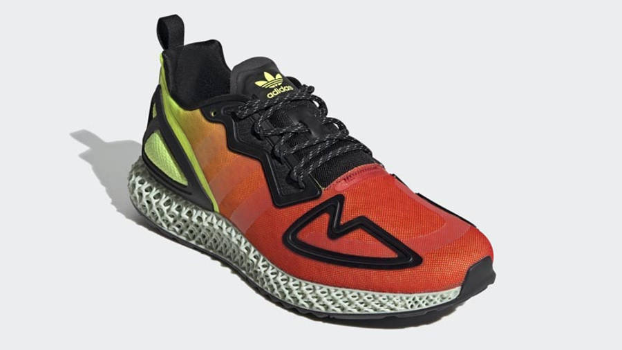 adidas ZX 2K 4D Solar Yellow Red Front