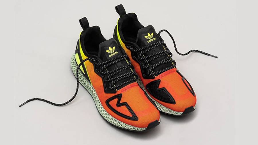 adidas ZX 2K 4D Solar Yellow Red Lifestyle