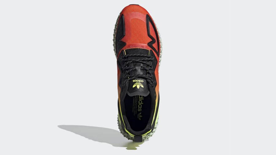 adidas ZX 2K 4D Solar Yellow Red Middle