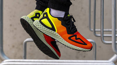 adidas ZX 2K 4D Solar Yellow Red On Foot Side