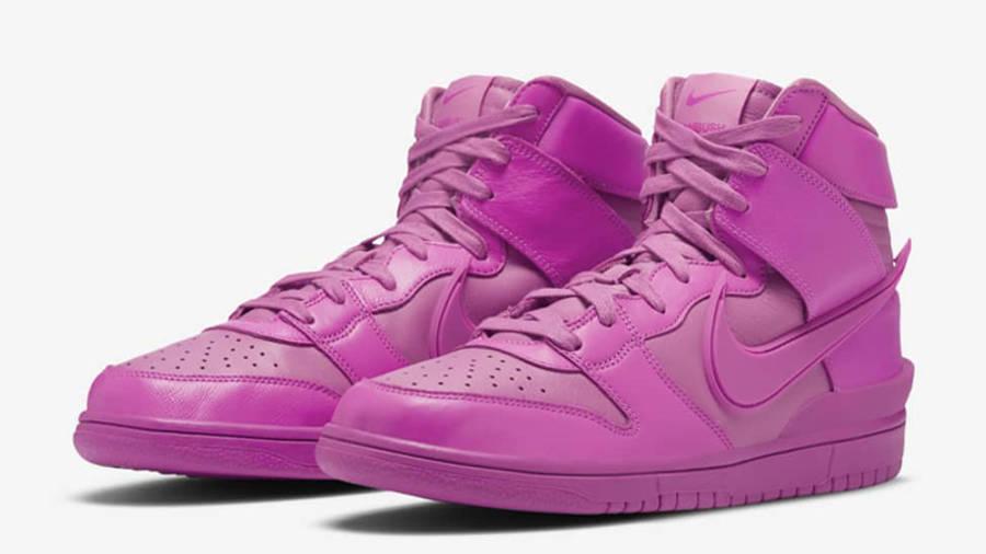 AMBUSH x Nike Dunk High Lethal Pink Front