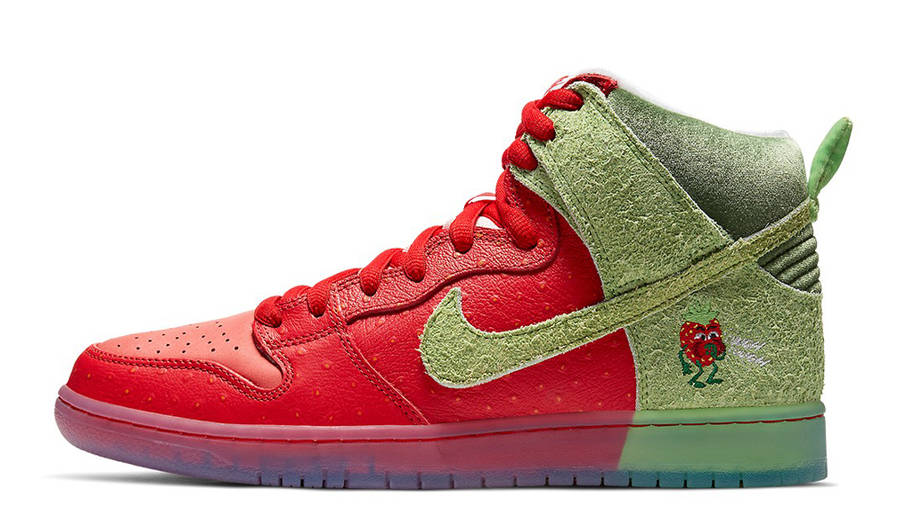 Todd Bratrud x Nike SB Dunk High Strawberry Cough Red