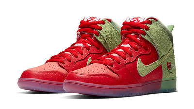 Todd Bratrud x Nike SB Dunk High Strawberry Cough Red Front