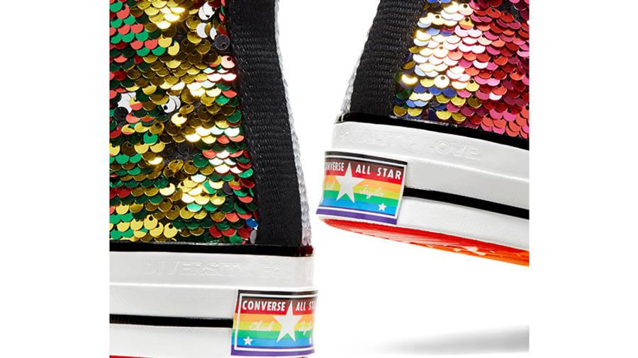 Converse Chuck 70 Hi Pride 2020 Sequin Back Closeup
