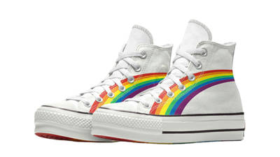Converse Chuck Taylor All Star Hi Pride 2020 Rainbow White Front