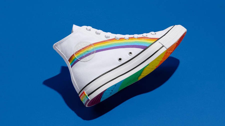 Converse Chuck Taylor All Star Hi Pride 2020 Rainbow White Lifestyle