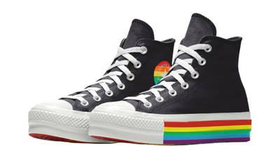 Converse Chuck Taylor All Star Platform Pride 2020 Black Front