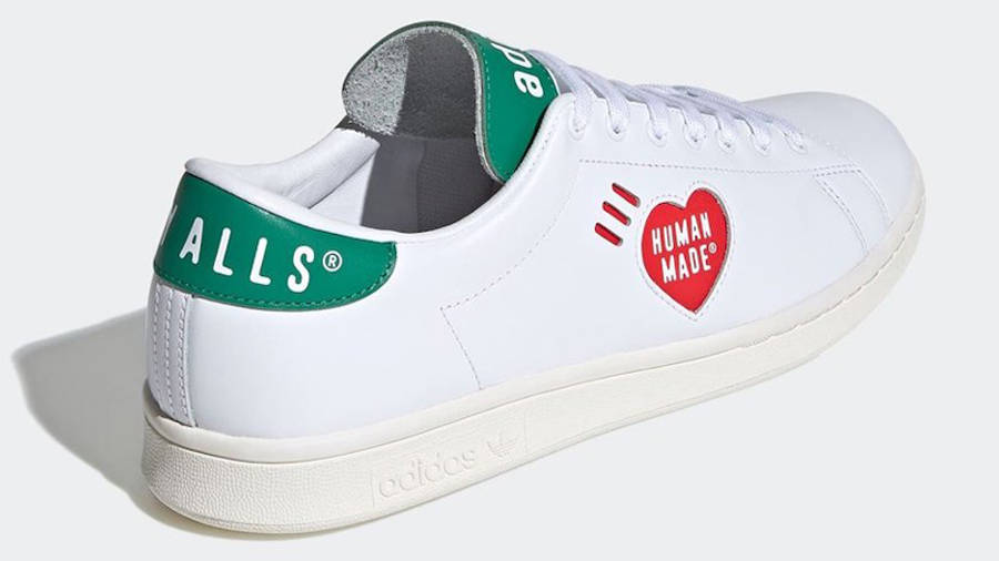 Human Made x adidas Stan Smith White Green FY0734 back