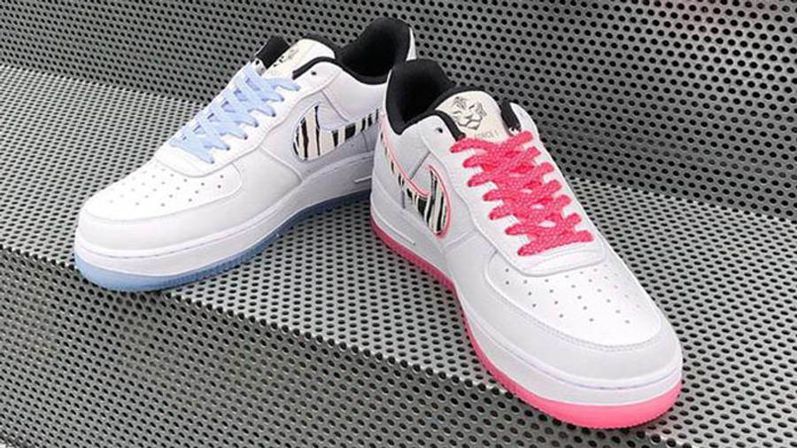 Nike Air Force 1 Low South Korea White Multi On Steps 1
