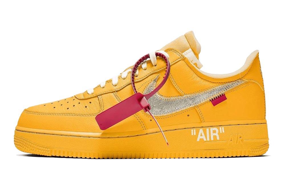 Prefijo Punto de partida Generoso  Off-White x Nike Air Force 1 University Gold   Where To Buy   undefined    The Sole Supplier