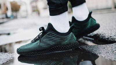 Parley x adidas Ultra Boost 4D Core Black On Foot Side 1