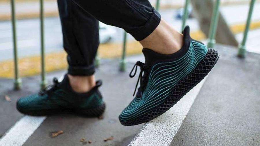 Parley x adidas Ultra Boost 4D Core Black On Foot Side Walking