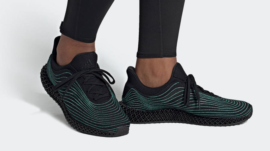 Parley x adidas Ultra Boost 4D Core Black On Foot