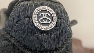 Stussy x Nike Air Force 1 Black Back Closeup