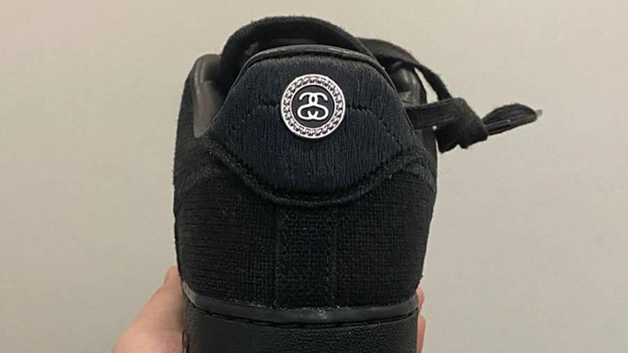 Stussy x Nike Air Force 1 Black In Hand Back