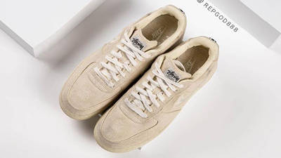 Stussy x Nike Air Force 1 Fossil Stone from top