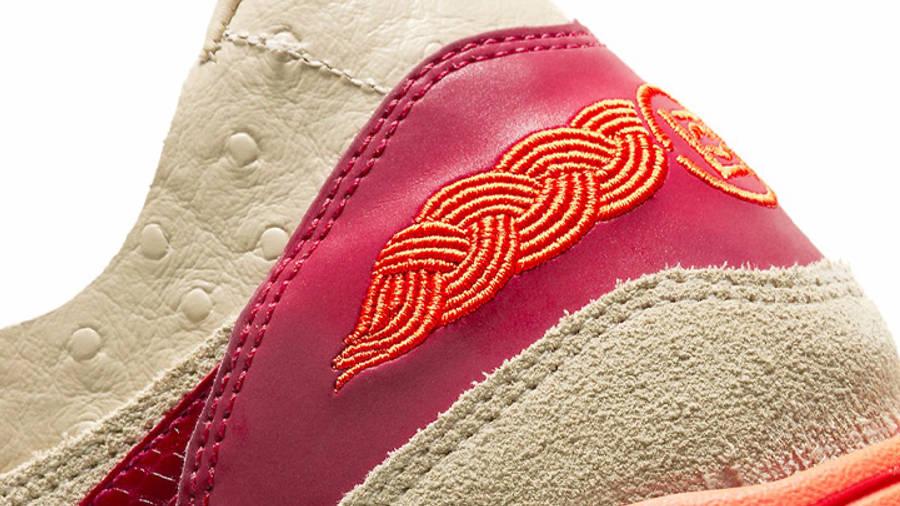 CLOT x Nike Air Max 1 Kiss of Death 2021 Closeup