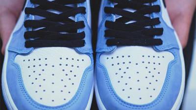 Jordan 1 High OG University Blue Detailed Look Front