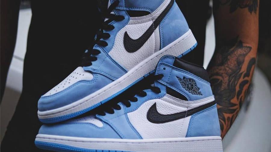 Jordan 1 High OG University Blue Detailed Look Side