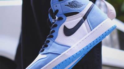 Jordan 1 High OG University Blue In Hand
