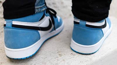 Jordan 1 High OG University Blue On Foot Back