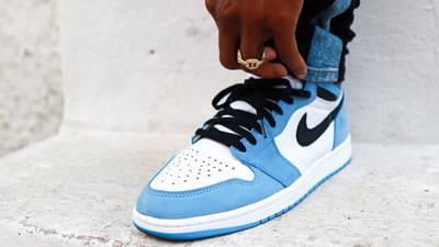 Jordan 1 High OG University Blue On Foot Front 1