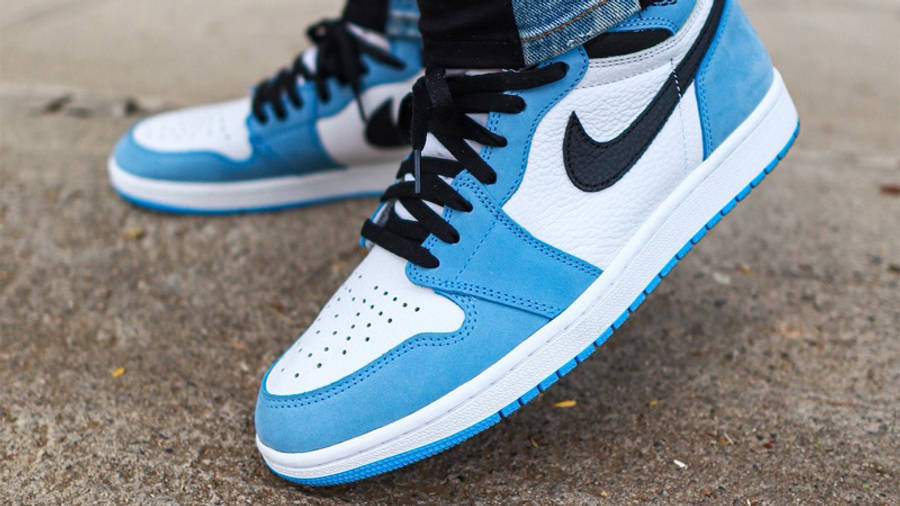 Jordan 1 High OG University Blue On Foot