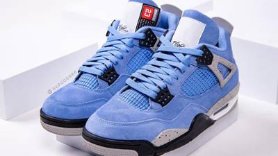 Jordan 4 University Blue Detailed Look Front