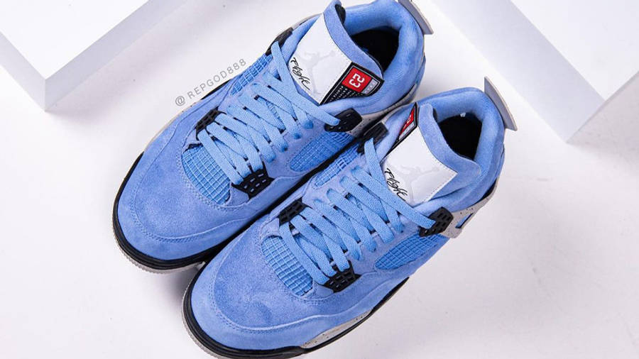 Jordan 4 University Blue Detailed Look Top