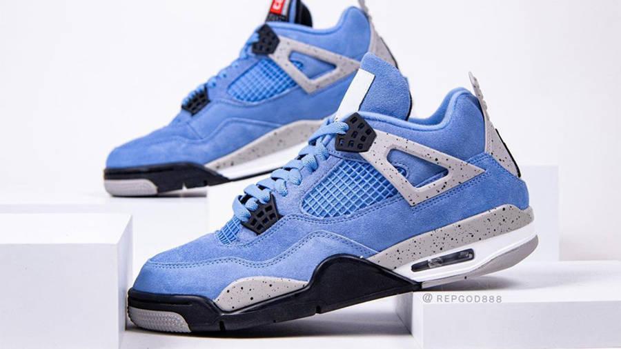 Jordan 4 University Blue Detailed Look