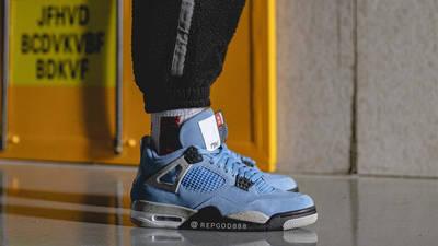Jordan 4 University Blue On Foot Side