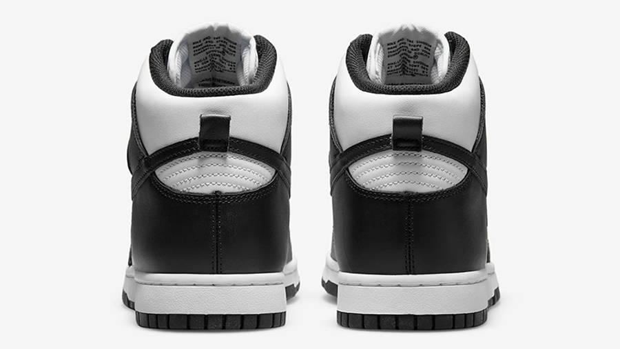 Nike Dunk High Retro White Black DD1399-105 Back