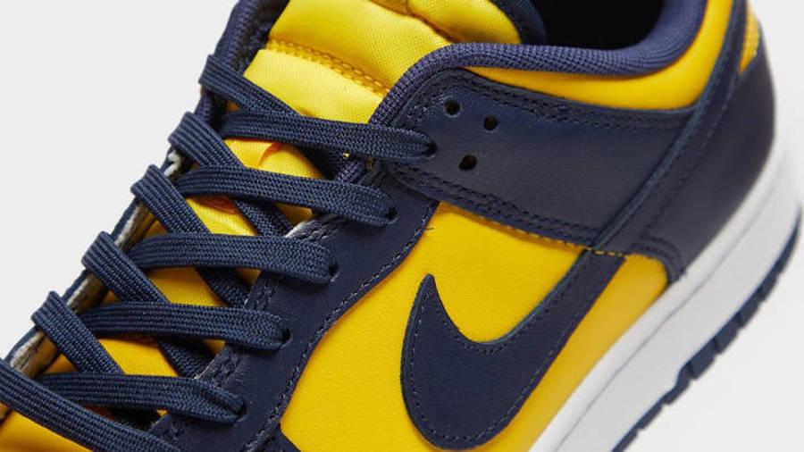 Nike Dunk Low Michigan Closeup