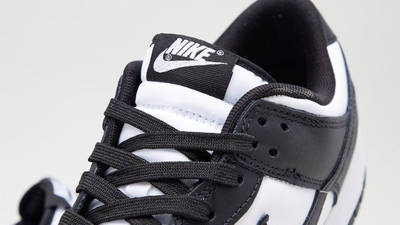 Nike Dunk Low Retro Black White Closeup