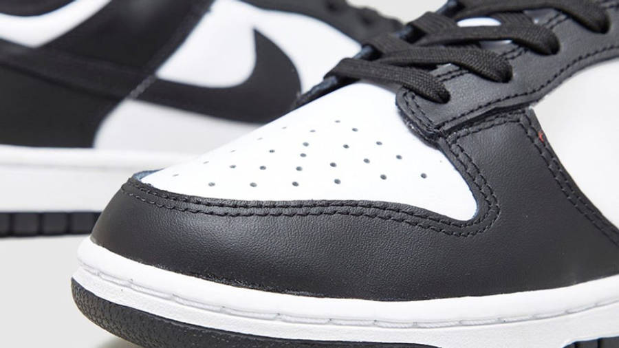 Nike Dunk Low Retro Black White Front Closeup