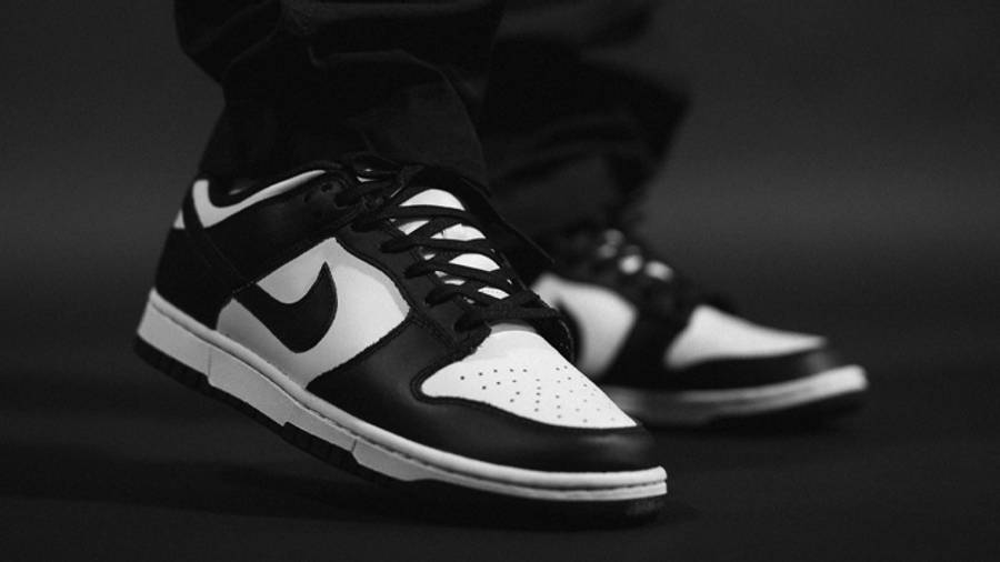 Nike Dunk Low Retro Black White On Foot