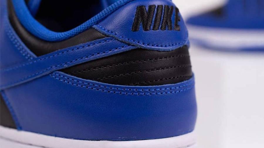 Nike Dunk Low Retro Hyper Cobalt Black Back Closeup