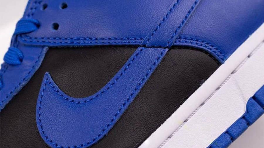 Nike Dunk Low Retro Hyper Cobalt Black Closeup