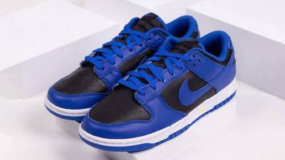 Nike Dunk Low Retro Hyper Cobalt Black First Look Front