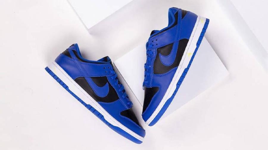 Nike Dunk Low Retro Hyper Cobalt Black First Look Side Top