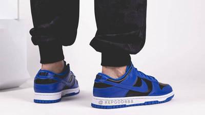Nike Dunk Low Retro Hyper Cobalt Black On Foot Back